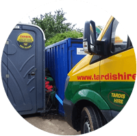 portable toilet servicing
