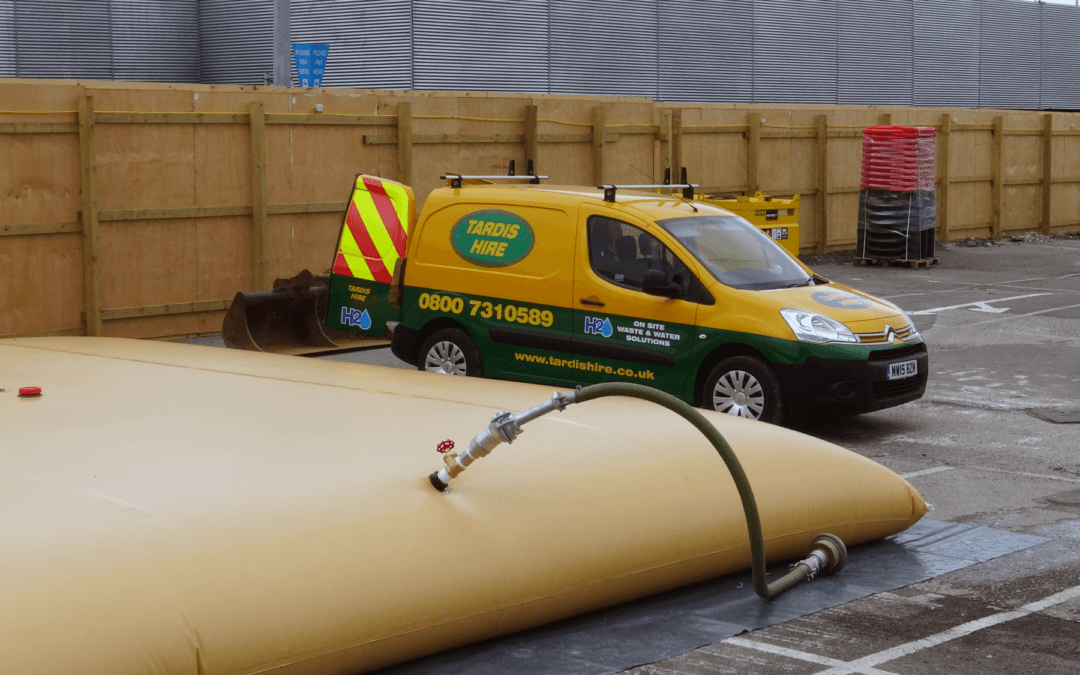 How do you get a 50,000 litre water tank into a small van?