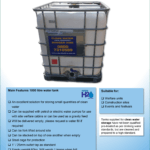 1000 Litre Clean Water Tank