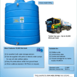 10,000 Litre Vertical Clean Water Tank