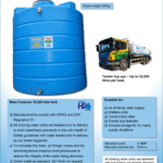10,000 Litre Vertical Drinking Water Tank