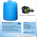 5000 Litre Vertical Clean Water Tank