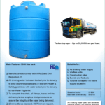 5000 Litre Vertical Drinking Water Tank