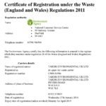 Tardis Waste Carriers Licence 2016 - 2019