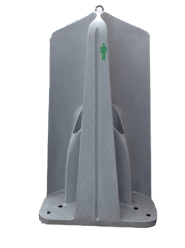 4 bay portable urinal