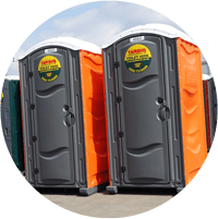 Hot wash portable toilets