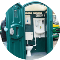 mains portable toilets