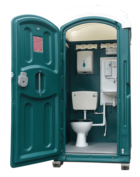 mains connected portable toilets