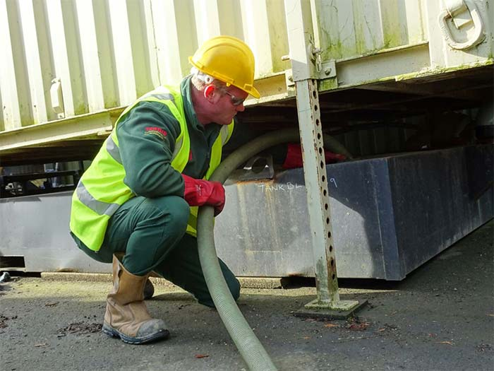 toilet block liquid waste removal