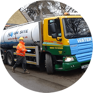 Water Tanker Delivering Water