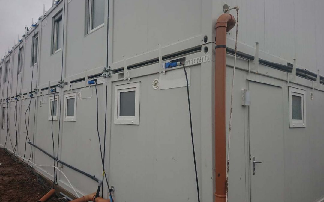 Site Welfare Units- Choosing the correct effluent tank and pump