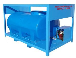 fabricated water tank frame with pump protection box